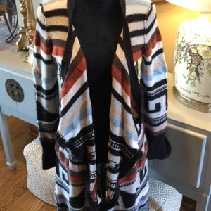 Free People Long Sweater Coat